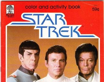 Vintage Star Trek Color And Activity Book - A Launch Into Fun 1979 Merrigold Press - Original Series - Enterprise - Coloring Book - Children