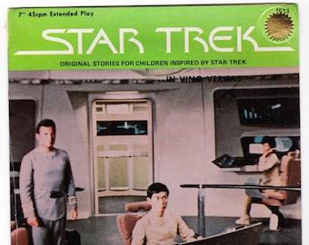 Vintage Star Trek Record, In Vitas Veritas, Original Series Record 1979 Peter Pan Records 45RPM #1513