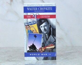 Vintage Readers Digest Presents Walter Cronkite Remembers The 20th Century World War II - D-Day - Normandy - United Press - Germany - War