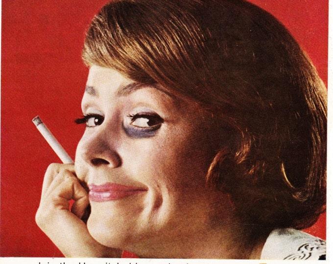 Vintage Original Magazine Print Art, Print Advertisement, Tareyton, 1964, Fine Tobacco Cigarette