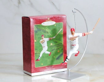 Vintage Ornament, Hallmark Keepsake Mark McGwire, St. Louis Cardinals, At The Ballpark, 2000 Fifth in the AT the BALLPARK Series