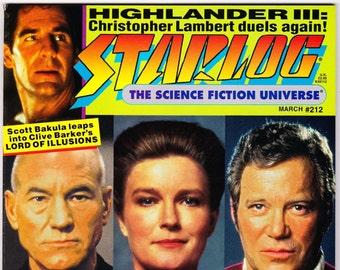 Vintage Starlog Magazine 212 March 1995