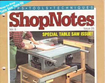 Vintage ShopNotes Magazine, January 1996, No 25, Wood Crafting, Designs, Tips, Techniques, Shop Notes, Talking Shop, DYI, How To, Lighting