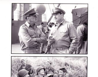 Vintage Photograph, Black and White, Nick Nolte, John Travolta, Sean Penn in Thin Red Line