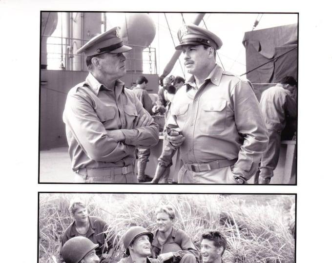 Vintage Photograph, Black and White, Nick Nolte, John Travolta, Sean Penn in Thin Red Line