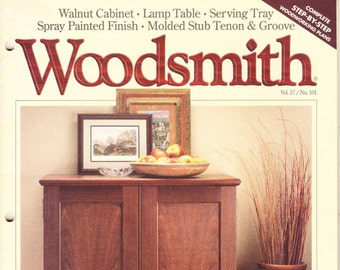 Vintage Woodsmith Magazine, October 1995, No 102, Wood Crafting, Designs, Tips, Techniques, Shop Notes, Talking Shop, DYI, How To, Cabinet