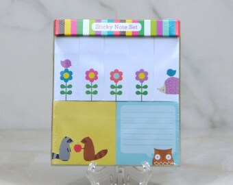 Hallmark Assorted Self Stick Notes 50 Sheets Per Pad 2 Pads Hallmark Stationary with 5 Page Marker Pads Included