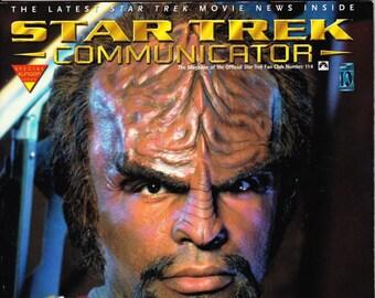 Vintage Star Trek Communicator Magazine Number 114 December January 1996 - Star Trek Fan Club - The Klingons - Michael Dorn - Worf
