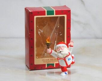 Vintage Hallmark Keepsake Christmas Ornament, Go For The Gold 1988, Hallmark Christmas, Keepsake Ornament, Vintage Christmas, Hallmark