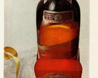 Vintage Print Art, Johnnie Walker Red, Original Magazine Print Advertisement