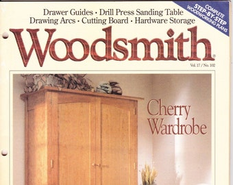 Vintage Woodsmith Magazine, December 1995, No 102, Wood Crafting, Designs, Tips, Techniques, Shop Notes, Talking Shop, DYI, How To