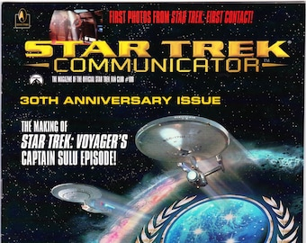 Vintage Star Trek Communicator Magazine Number 108 August September 1996 - Star Trek Fan Club - Star Trek Voyager - Captain Sulu - Janeway