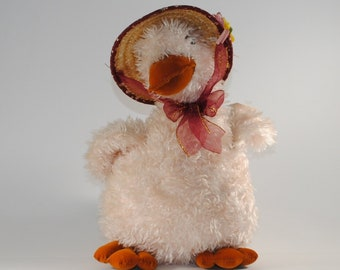 Vintage Plush Easter Goose With Hat