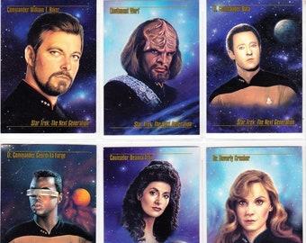 Vintage Star Trek Trading Cards From Skybox Master Series 1993 Assorted Lot Of 18 Cards - Star Trek: The Next Generation - Original Series