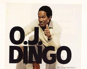 Vintage OJ Dingo Boots Original Magazine Advertisement 1980s