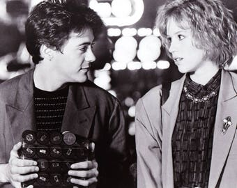 Vintage Photograph The Pick Up Artist, The Movie, 8x10, Black and White, Promotional, Photo, 1987, Robert Downey Jr, Not Autographed