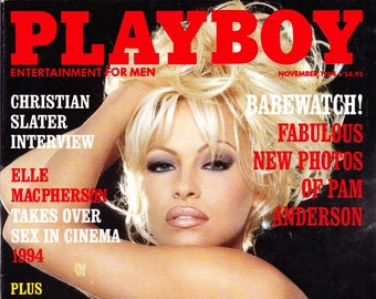 Vintage Playboy Magazine November 1994 with Pamela Anderson, Christian Slater, Donna Perry and Quentin Tarantino