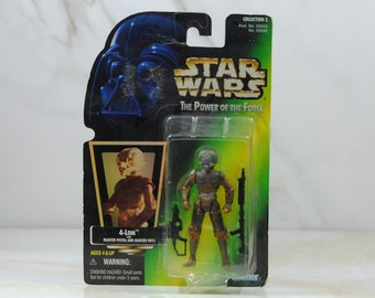 Vintage Star Wars Action Figure 4-Lom 1997 The Power of the Force, Hasbro Figure