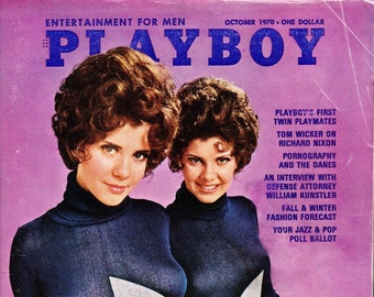 Vintage Playboy Magazine October 1970 with William Kunstler