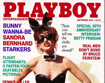 Vintage Playboy Magazine September 1992, Sandra Bernhard
