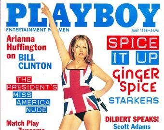 Vintage Playboy Magazine May 1998 with Deanna Brooks, Scott Adams, Geri Halliwell, Ginger Spice, Bill Clinton, Dilbert Speaks