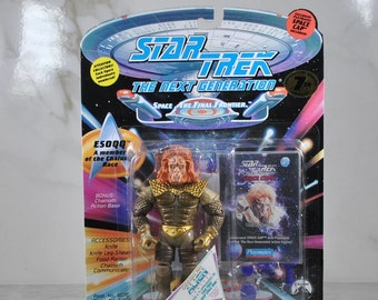 Vintage Star Trek Action Figure Esoqq Of The Chalnoth Race 6070 6049 1994 Next Generation, Playmates Figure