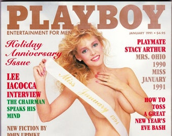 Vintage Playboy Magazine January 1991, Holiday, Anniversary Issue