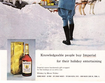 Vintage Original Magazine Print Art, Imperial Blended Whisky, 1964, Print Advertisement
