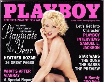 Vintage Playboy Magazine June 1999 with Samuel L Jackson, Christina Applegate, Deborah Harry