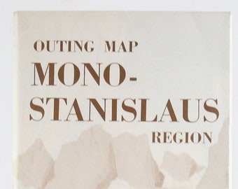Vintage AAA Guide to Mono-Stanislaus California 1980s Map