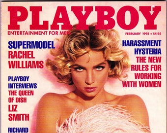 Vintage Playboy Magazine February 1992