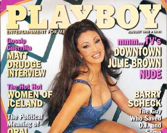 Vintage Playboy Magazine August 1998 with Downtown Julie Brown, Matt Drudge, Bruce Willis, Dial Scheck