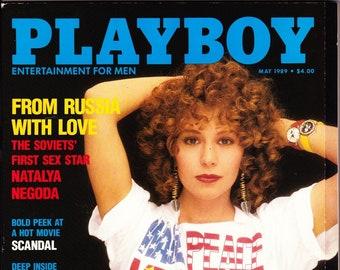 Vintage Playboy Magazine May 1989 with Natalya Negoda, Susan Sarandon, Richard Lewis, Human Fly
