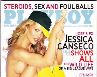 Playboy Magazine September 2005 with Jessica Canseco, Vanessa Hoelsher, Columnist Thomas L. Friedman, NASCAR's Kurt Busch