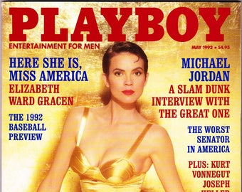 Vintage Playboy Magazine May 1992 With Elizabeth Ward Gracen