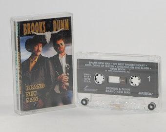 Vintage Cassette Tape Brooks & Dunn Brand New Man 1991