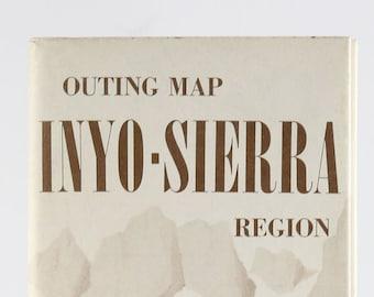 Vintage AAA Guide to Inyo-Sierra California 1984 Map