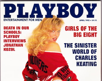 Vintage Playboy Magazine April 1992 With School