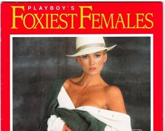 Vintage Playboy Magazine Foxiest Females 1991 Supplement