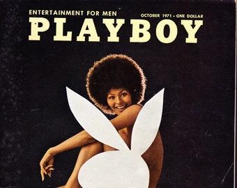 Vintage Playboy Magazine October 1971 with Chris Evers, Butkus
