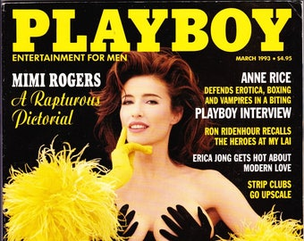 Vintage Playboy Magazine March 1993 With Mimi Rogers