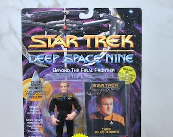 Vintage Star Trek Action Figure Chief Miles O'Brien Chief Operations Officer  6200 6204 1993 Deep Space Nine, Playmates Figure
