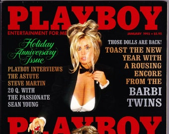 Vintage Playboy Magazine January 1993, Steve Martin, Comedy, Wild And Crazy, Guy, John Candy, Sean Young, Renegade, Playboy, Hefner