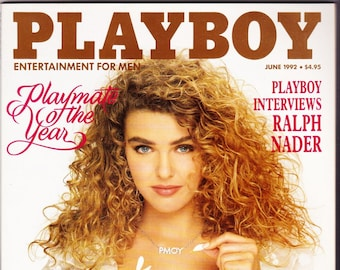 Vintage Playboy Magazine June 1992 With Ralph Nader