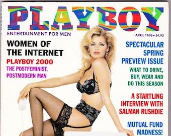 Vintage Playboy Magazine April 1996, Women, Of The Internet, Spring Preview, Salman Rushdie, Stocks, Kelsey Grammer, Vintage Playboy