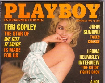 Vintage Playboy Magazine November 1990 With Teri Copley