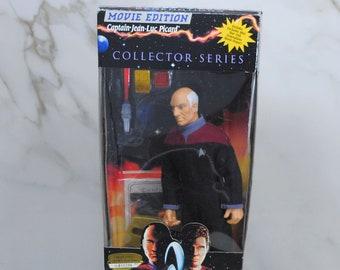 Vintage Star Trek Action Figure Captain Jean-Luc Picard 6140 6141 1994, Generations 9 Inch Figure