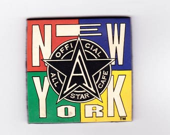 Vintage Magnet, New York City, Refrigerator Magnet, Official, All Star Café, New York, Souvenir, 1995, China, Restaurant Souvenir