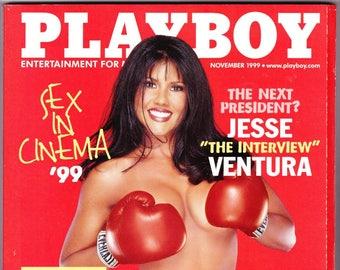 Vintage Playboy Magazine November 1999 with Mia St. John, Jesse Ventura, George Jones, Sheryl Crow