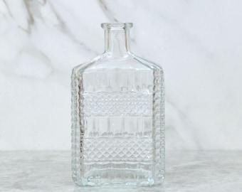 Vintage Pressed Glass, Cut Glass, Bottle, Decanter, Made in Italy, Liquor Bottle, Glass Bottle, Glass Decanter, Decanter Bottle